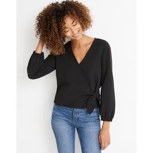 Madewell // NWT Texture & Thread Crepe Wrap Top
